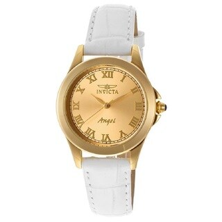 Invicta Women'S 14805 'Angel' Yellow Gold-Plated Stainless Steel Quartz Watch