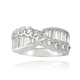 ICZ Stonez Sterling Silver 3 1 3ct TGW Cubic Zirconia Eternity Ring