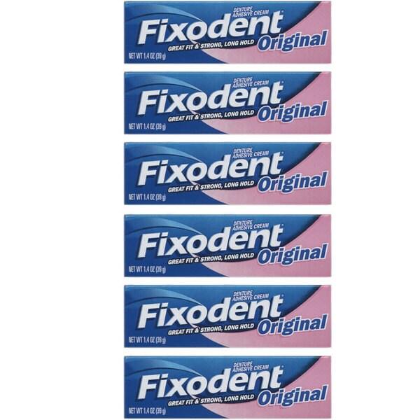 Fixodent 1 4 Ounce Original Denture Adhesive Cream Pack