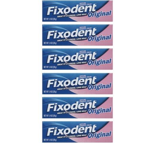 Fixodent 1.4-ounce Original Denture Adhesive Cream (Pack of 6)