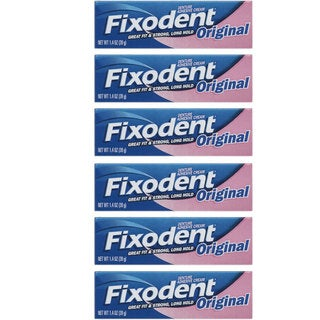 Fixodent 1.4-ounce Original Denture Adhesive Cream (Pack of 6)