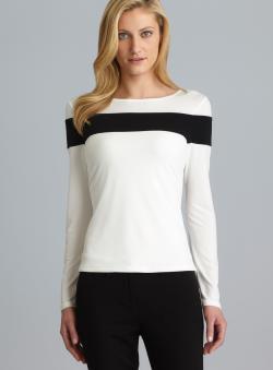 Calvin Klein Long Sleeve Colorblock Top