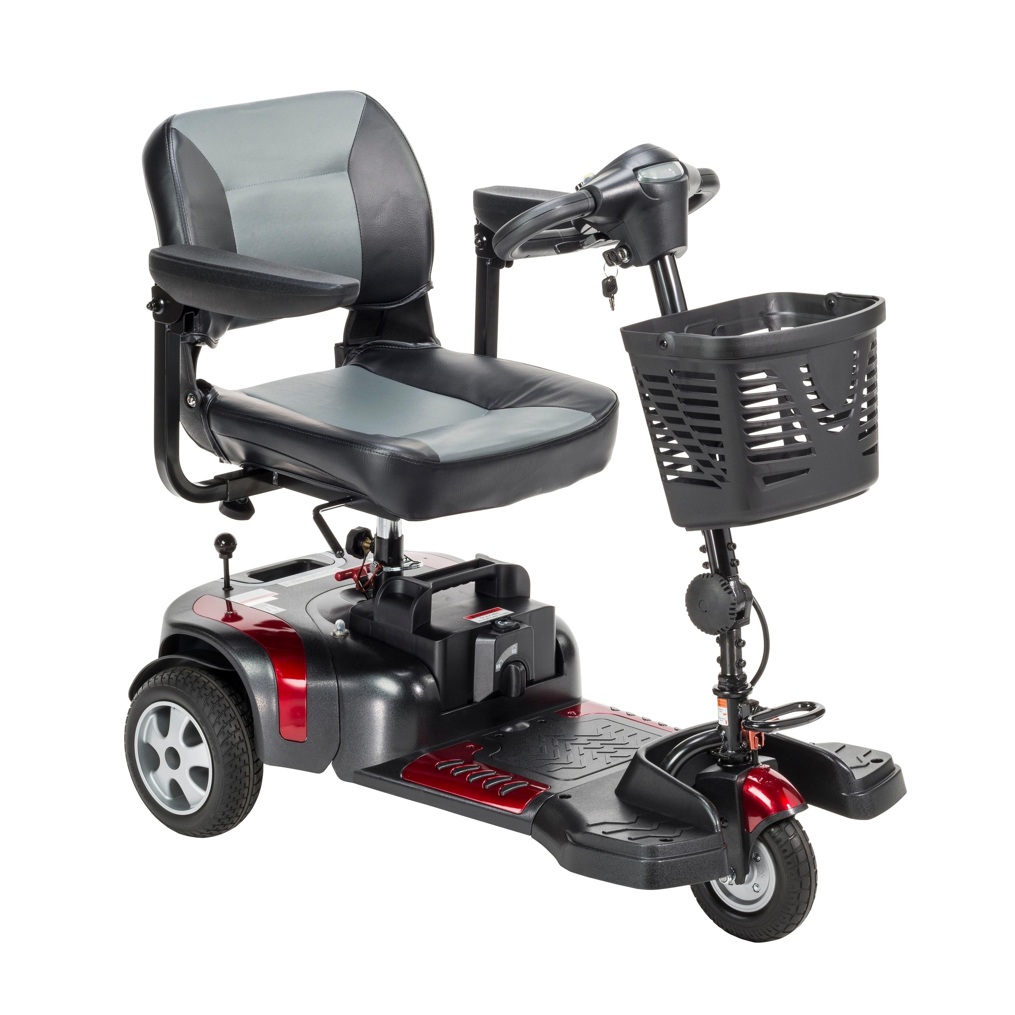 Drive Medical Phoenix 3-wheel Heavy-duty Scooter, Black