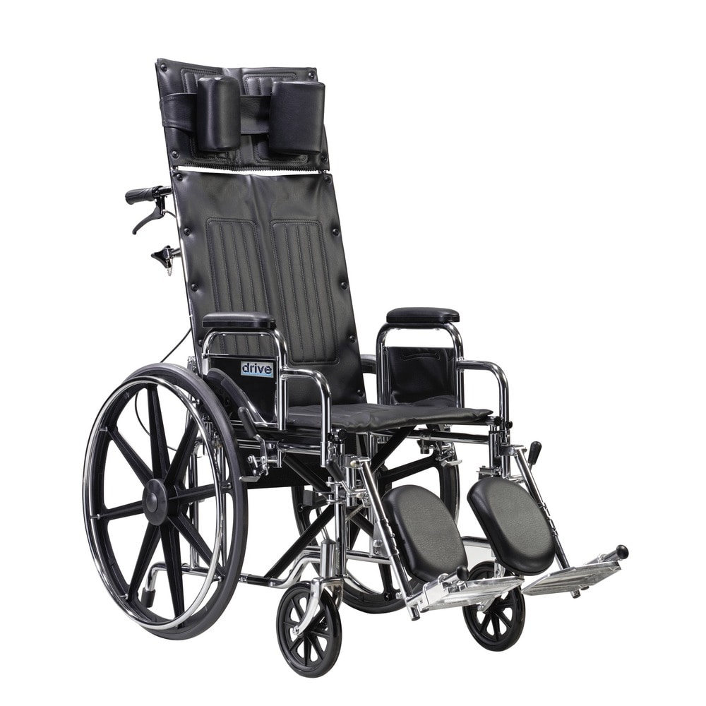 "Drive Medical Sentra Reclining Wheelchair (Detachable Full Arms,20"" Seat)"