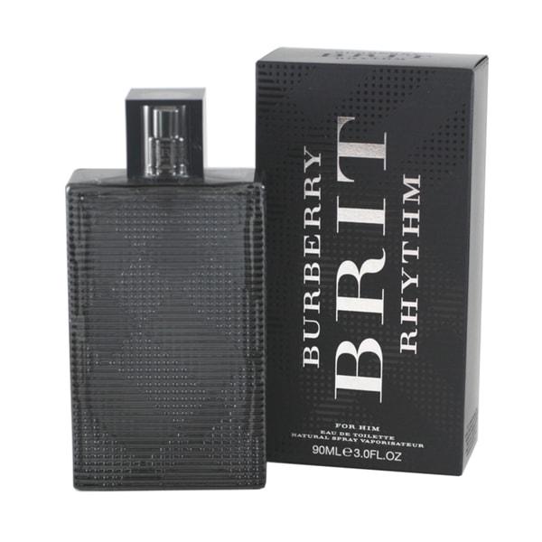burberry brit eau de toilette spray e6gj  Burberry Brit Rhythm Men's 3-ounce Eau de Toilette Spray