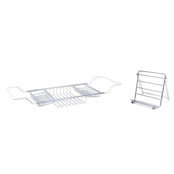 Shop Chrome Bathtub Caddy with Reading Rack - Free Shipping On ...