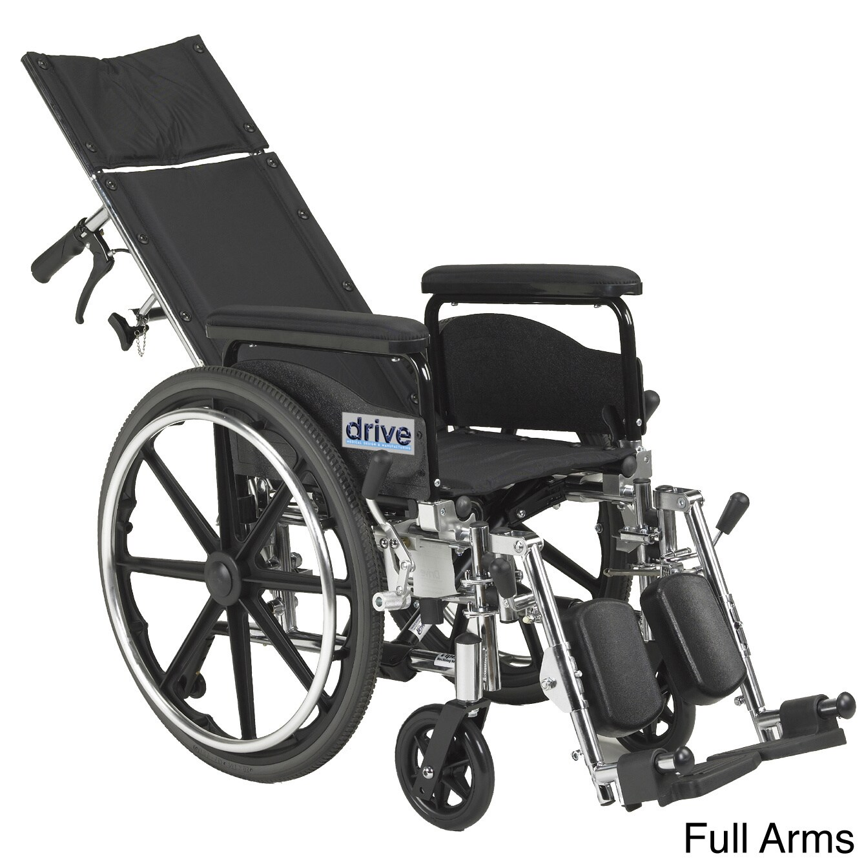 Drive Medical Viper Plus GT Full Reclining Wheelchair (18...
