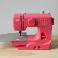 Janome Pink Lightning Basic, Easy-to-Use, 10-stitch Portable, 5 lb Compact Sewing Machine with Free Arm