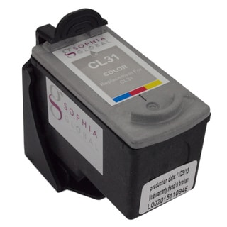 Sophia Global Remanufactured Color Ink Cartridge Replacement for Canon CL-31 with Ink Level Display