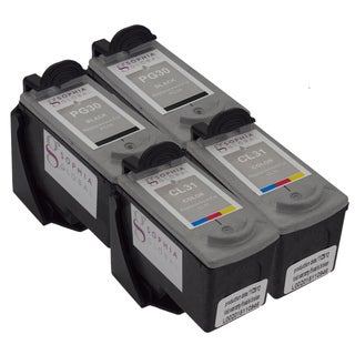 Sophia Global Remanufactured Ink Cartridge Replacement for Canon PG-30 and CL-31 with Ink Level Display (Pack of 4)