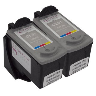 Sophia Global Remanufactured Color Ink Cartridge Replacement for Canon CL-31 with Ink Level Display (Pack of 2)