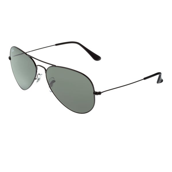 56a21bf346 Shop Ray-Ban RB3025 58mm Aviator Sunglasses - Black - Free Shipping ...