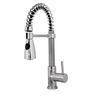 Virtu USA Ceto Single Handle Kitchen Faucet in Brush Nickel or Chrome