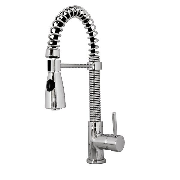 Shop Virtu USA Ceto Single Handle Kitchen Faucet in Brush Nickel or ...