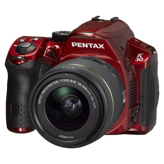 Pentax K-30 Digital SLR Crystal Red with 18-55mm WR Lens