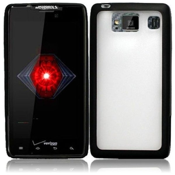 INSTEN Clear/ Black TPU Phone Case Cover for Motorola Droid Razr HD XT926