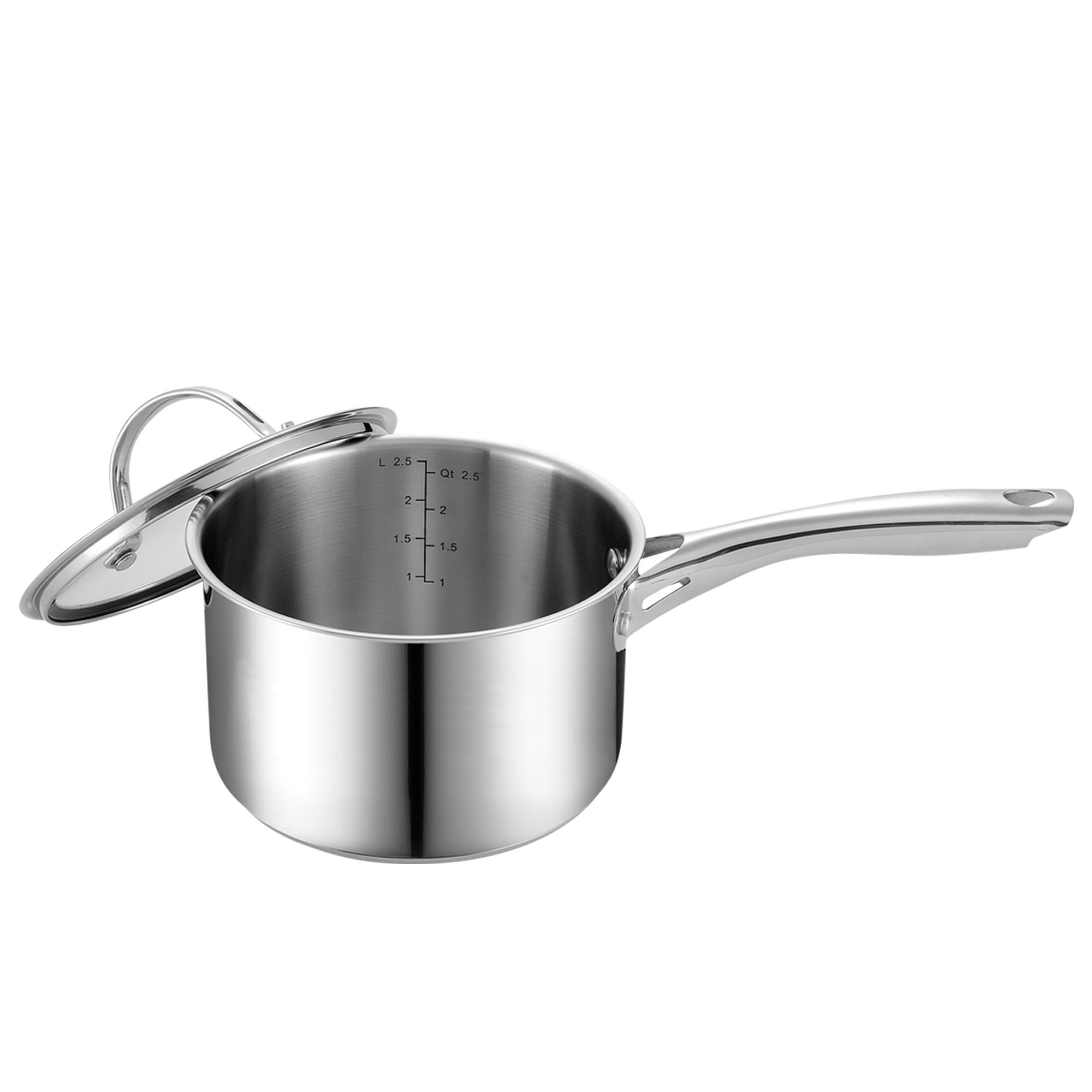 Cooks Standard Stainless Steel 3-QT Sauce Pan with Cover ...