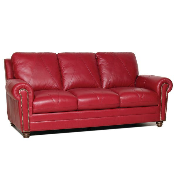 Shop Cherry 3 Pieces Living Room Leather Sofa Set Free Shipping