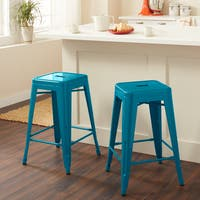 Carbon Loft Fowler 24-inch Peacock Counter Stools (Set of 2)
