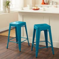 24-inch Peacock Counter Stools (Set of 2)