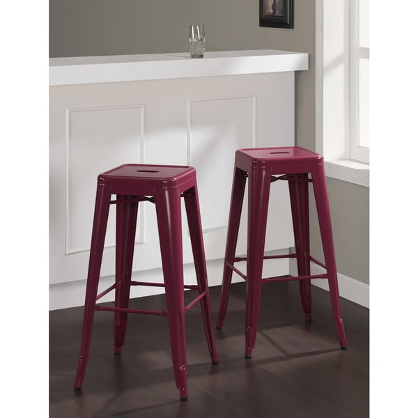 Tabouret 30 Inch Razzleberry Bar Stools Set Of 2 Free Shipping Today Ov