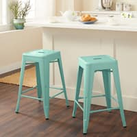Carbon Loft Fowler 24-inch Mint Counter Stools (Set of 2)