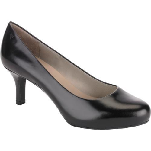 Women's Rockport Seven to 7 65mm Pump Black Smooth Leather