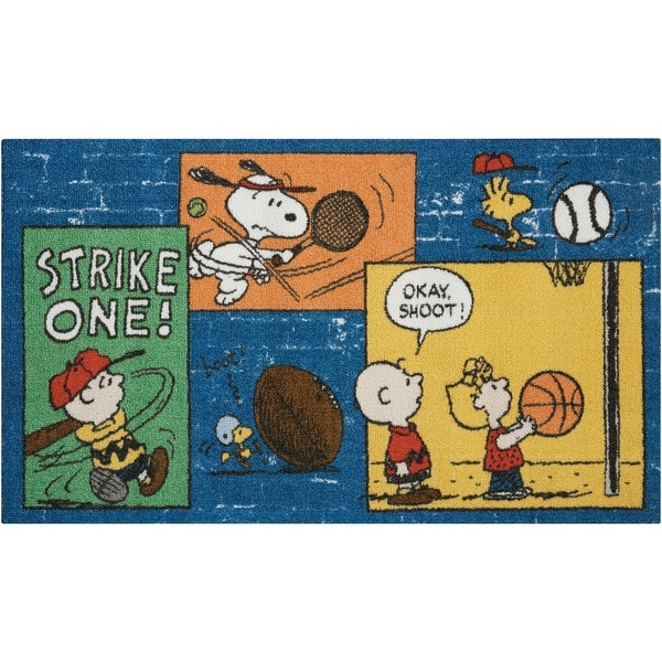 Peanuts by Nourison Sports Blue Rug