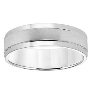 Cambridge Platinum Classic Engraved Men's Wedding Band