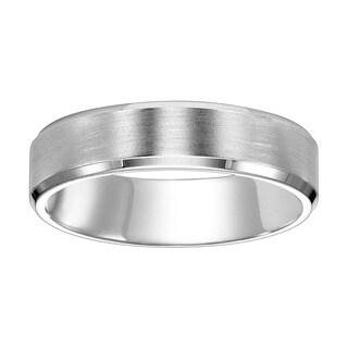 Cambridge Platinum 6 mm Beveled Edge Wedding Band