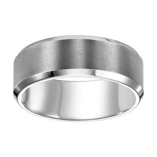 Cambridge Platinum 8 mm Beveled Edge Band|https://ak1.ostkcdn.com/images/products/8659384/P15918355.jpg?impolicy=medium