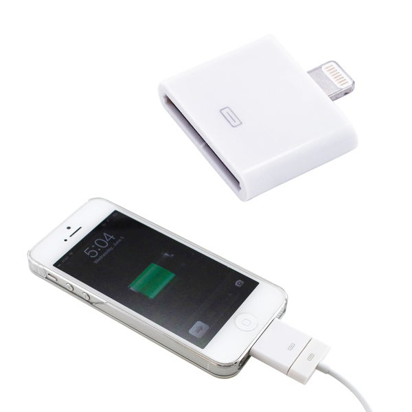 Gearonic 30 pin to 8 Pin Converter Adapter For iPhone 5S 5