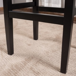 Lisette Backless Leather Bar Stool (Set of 2) by Christopher Knight Home