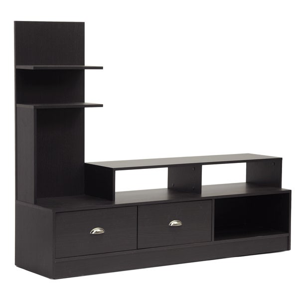 Shop Armstrong Dark Brown Modern Tv Stand Free Shipping