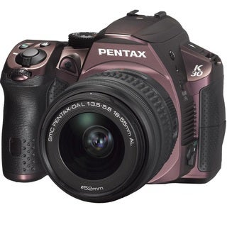 Pentax K-30 Digital SLR Silky Bordeaux with 18-55mm WR Lens