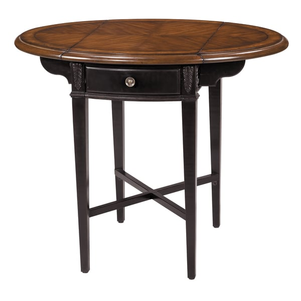 Shop Avery Round Drop Leaf Side Table Free Shipping