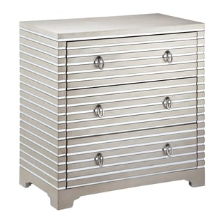 Foxy 3-drawer Mirrored Stripe Accent Chest
