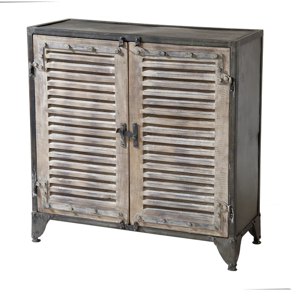 Jjuanita Two Tone Levered Door Cabinet Free Shipping