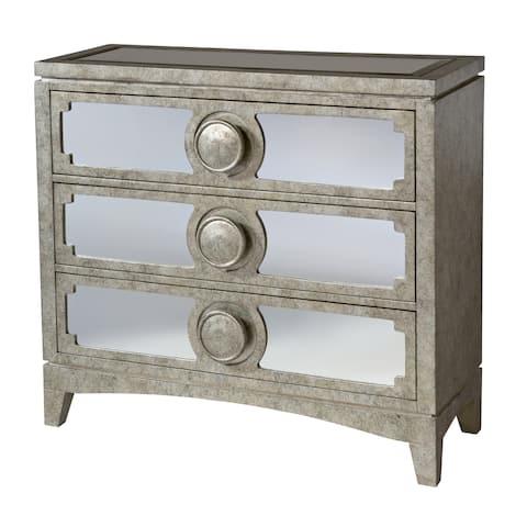 Carlton 3-drawer Mirrored Accent Chest
