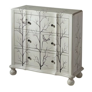 Beatrice Winter White Wood 3-drawer Accent Chest