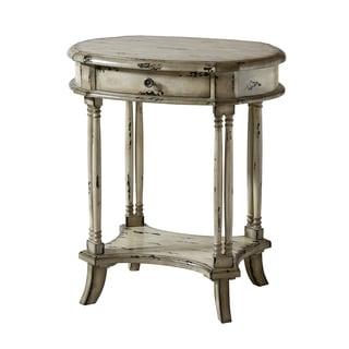 Brendan Antique White Wood Side Table