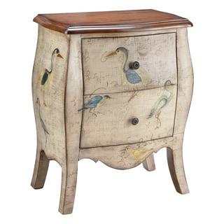 Sterling 2-drawer Bird Motif Accent Chest