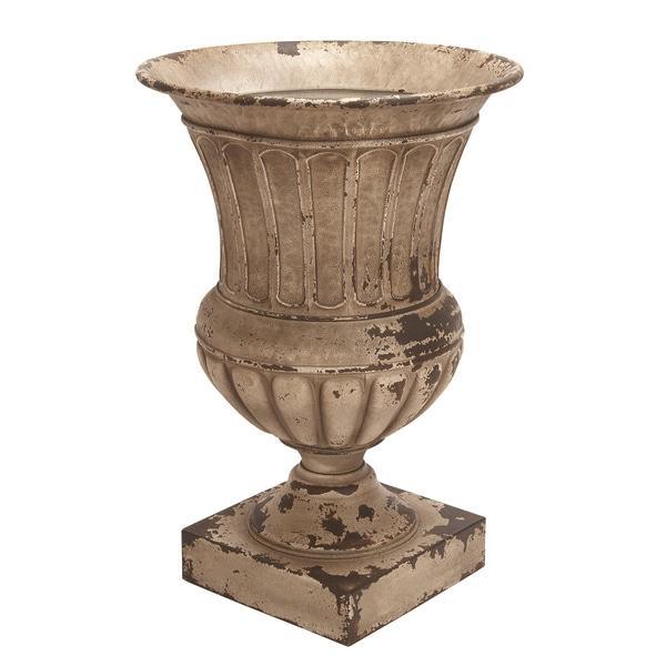 Gracewood Hollow Vee Antique Metal Planter Vase