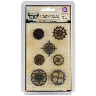 Mechanicals Metal Embellishments - Gears 7/Pkg