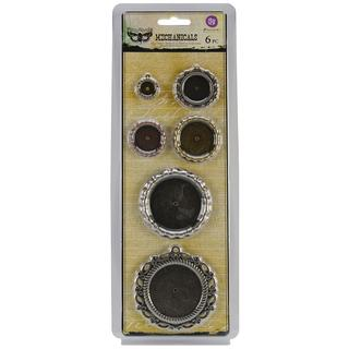 Mechanicals Metal Embellishments - Pendants 6/Pkg
