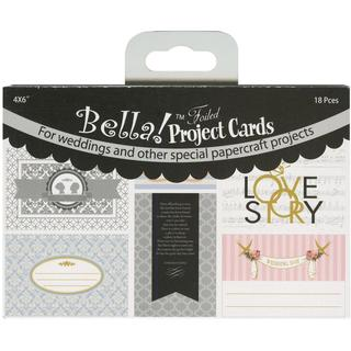 Bella! Wedding Project Cards Die-Cuts 4 X6 18/Pkg - With Foil Accents