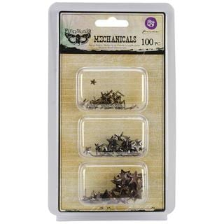 Mechanicals Metal Embellishments - Star Brads