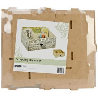 Beyond The Page MDF Scrapping Organizer - 11.5 X9.75 X6.5