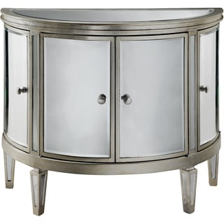 Lovely Halton Mirrored Demilune 4 Door Cabinet