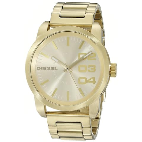Diesel Men's DZ1466 'Franchise' Gold-tone Stainless Steel Watch - GOLD